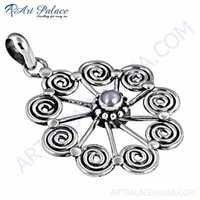 Truly Designer Pearl Gemstone Silver Pendant