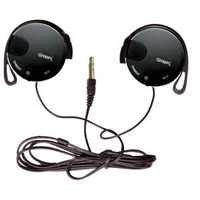 Black Clip-on Headphones