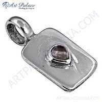 Top Quality Crystal Gemstone Silver Pendant