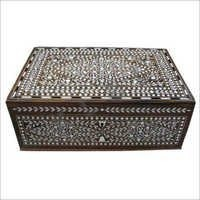 Antique Inlaid Wooden Boxes