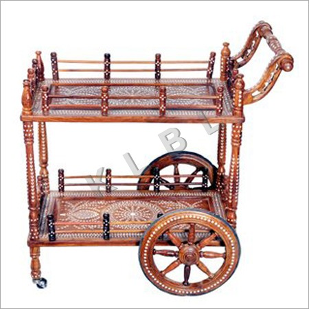 Wooden Inlaid Trolley