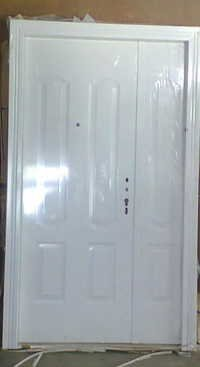 Steel double door