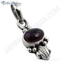 Traditional Designer Tourmaline Gemstone Silver Pendant