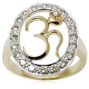 Light Weight Gold Om Ring