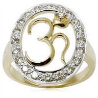 Light Weight Gold Om Ring