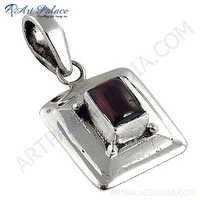Excellent Tourmaline Gemstone Silver Pendant