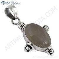 Exclusive Rainbow Moonstone Silver Pendant