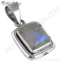 HOT!!! Luxury Rainbow Moonstone Gemstone Silver Pendant