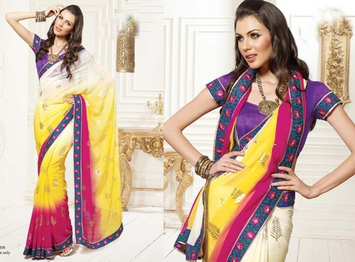 Silk Embroidered Bridal Sarees