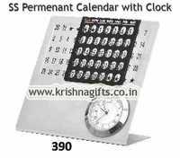 SS Permanent Calendar Clock