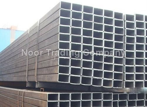 Black rectangular ms steel pipes