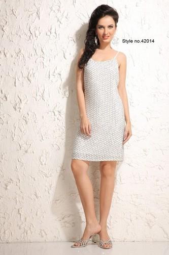 Ladies Silk Short Dress