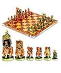 CHESS SET PAINTING WITH BOX