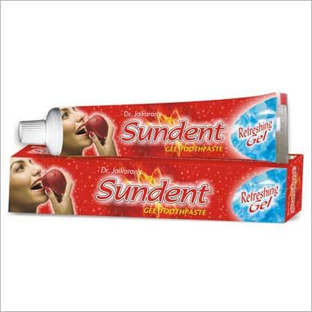 sundent red gel toothpaste
