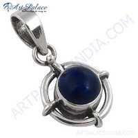 Famous Design Lapis Gemstone Silver Pendant