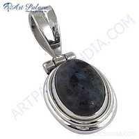 Victorian Designer Gemstone Silver Pendant With Jasper