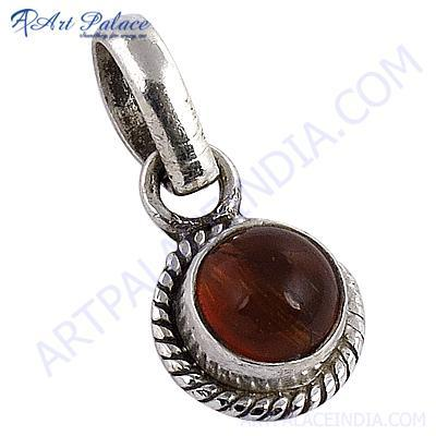Truly Designer Rutilated Quartz Gemstone Silver Pendant