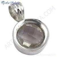 Charming Crystal Gemstone Silver Pendant
