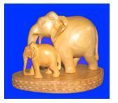 ELEPHANT PLAIN WITH BABY ON BASE