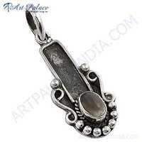 Violion Style Rainbow Moonstone Silver Pendant