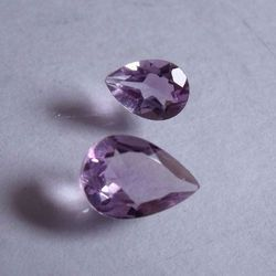 Pear Cut Natural Purple Amethyst