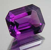 Brazilian Amethyst faceted stones, 2012 Hot Sale Rectangle Shape Purple Color Loose Stone