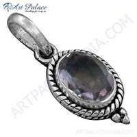 Charming Amethyst Gemstone Indian Silver Pendant