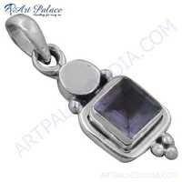 Sensational Amethyst Gemstone Sterling Silver Pendant