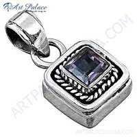 Hot Sale Amethyst Gemstone 925 Sterling Silver Pendant