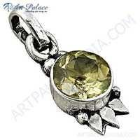 Sensational Citrine Gemstone Sterling Silver Pendant