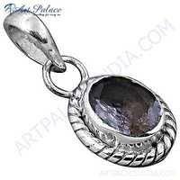 Indain Designer Amethyst Gemstone Sterling Silver Pendant