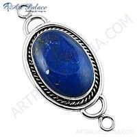 Victorian Designer Gemstone Silver Pendant With Lapis Lazuli