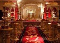 Decorative ceremony mandap