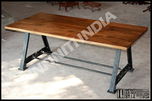 Vintage Industrial Style Dining Table