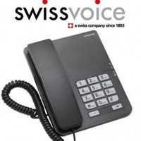 Swiss Voice Phone Corded Touch Button Black