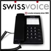 Swiss Voice Black Phone Corded Touch Button