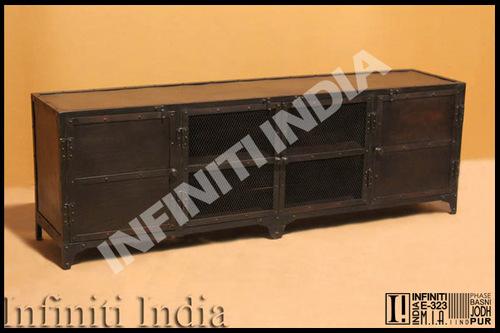 Vintage Industrial TV Unit