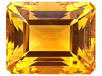 Natural Yellow Citrine Emerald Cut , citrine quartz stone - raw quartz stone, citrine