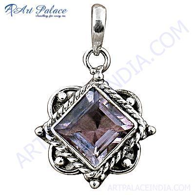 Fastival Designer Amethyst Gemstone Silver Pendant