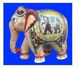 ELEPHANT FIGUR  EMBOSE PAINTING FINE