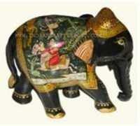 ELEPHANT SHIKAR  PAINTING FINE