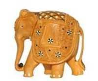 ELEPHANT  CARVEEN INLAID WITHOUT BASE