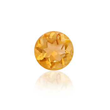 6mm round loose natural citrine yellow natural stone, 8mm round stone, Citrine Gem