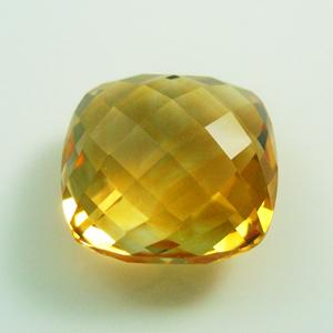 both side faceted briolite semi precious