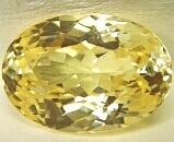 Hydro Quartz Citrine Color Facet Drops Stones, oval synthetic citrine yellow zircon stones