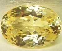 Hydro Quartz Citrine Color Facet Drops Stones, oval synthetic citrine yellow zircon stones