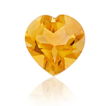 loose natural precious transparent citrine stones, Natural Yellow Citrine Heart Cut Calibrated Stone
