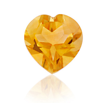 loose natural precious transparent citrine stones, Natural Yellow Citrine Heart Cut Calibrated Stone