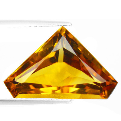 free size princess cut citrine gemstone, Shining Citrine Princess Cut Loose Stone