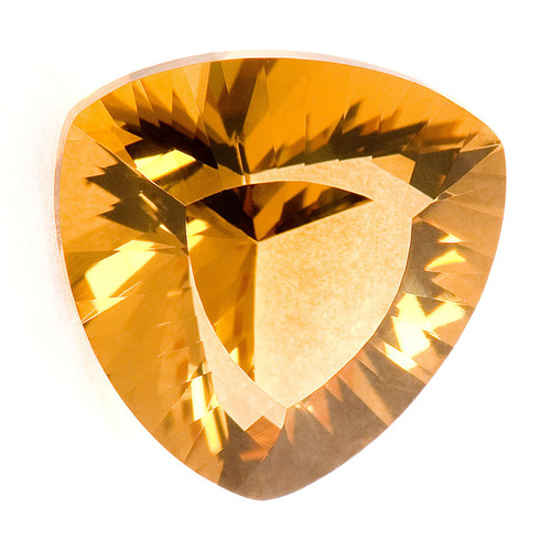Triangle Shape Yellow Citrine Stone, Lab Created  Citrine Tapper Cut, gemston